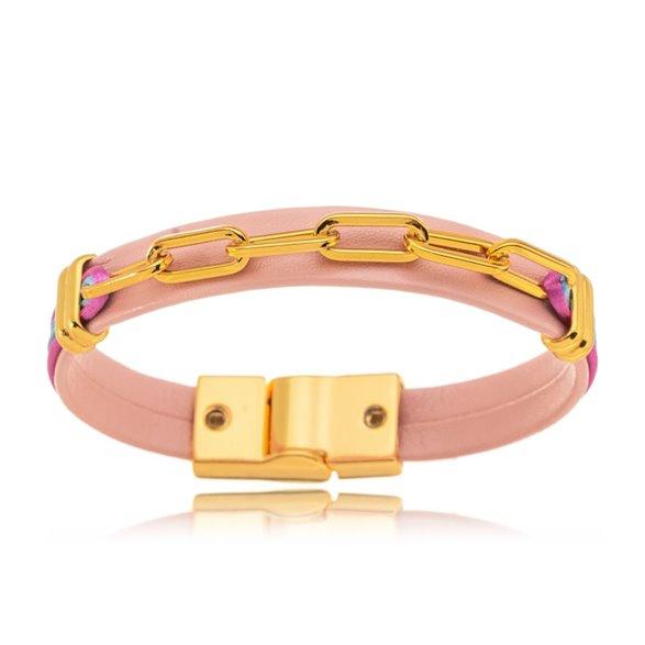 Pulseira Elos Rosê Color Gazin Banhado a Ouro 18K 00015325