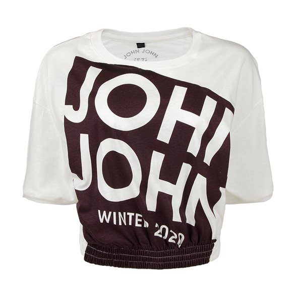 Camiseta Cropped John John Wine Feminina 03.02.2116