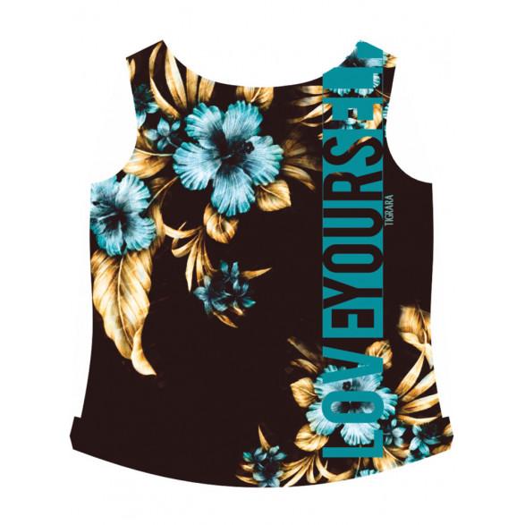 T-Shirt Tigrara Malha Crepada com Estampas Florais 111170009