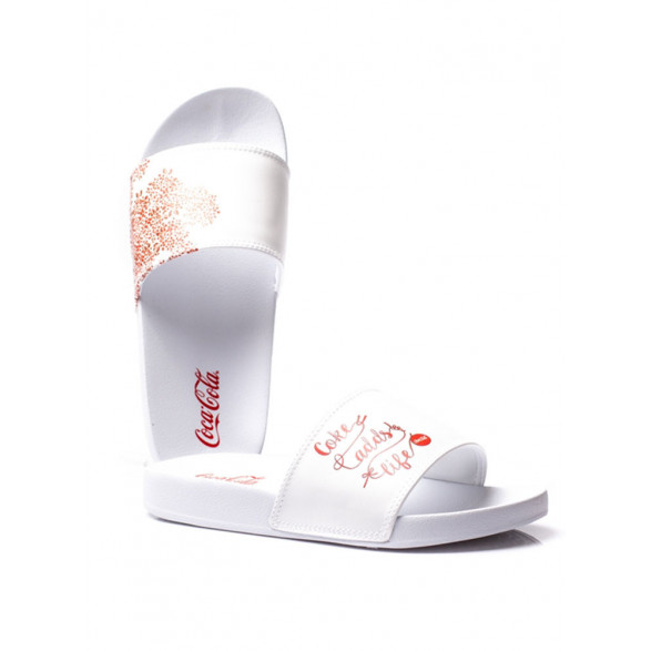Chinelo Coca Cola Slide Adds Life - Branco CC2397