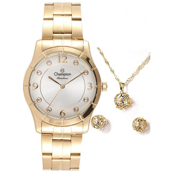 Kit Relógio Champion Feminino Elegance - CN27492W