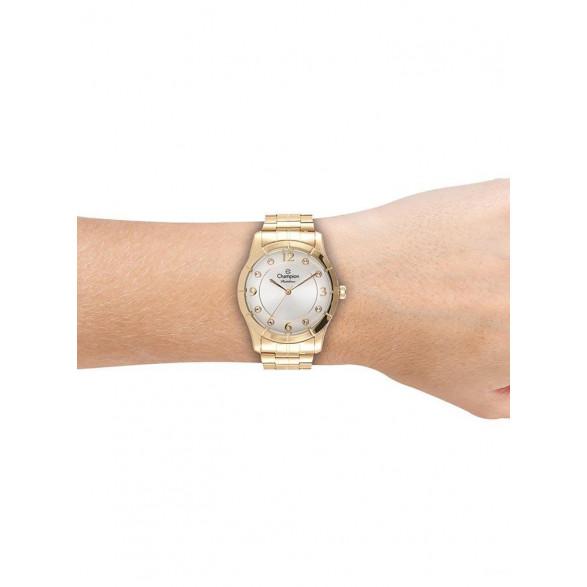 Kit Relógio Champion Elegance + Semi Joia - CN28400W CN28400