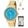 Kit Relógio Champion Elegance Feminino CN26840W CN26840