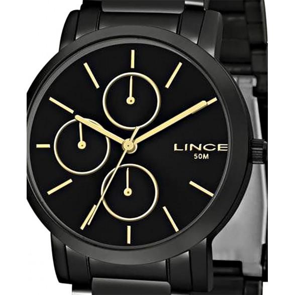 Relógio Lince Dourado Analógico LMGJ069L LMGJ069L