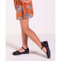 Calca Pantalona Jeans Morena Rosa Cos Alto Com Cinto 10000204120000