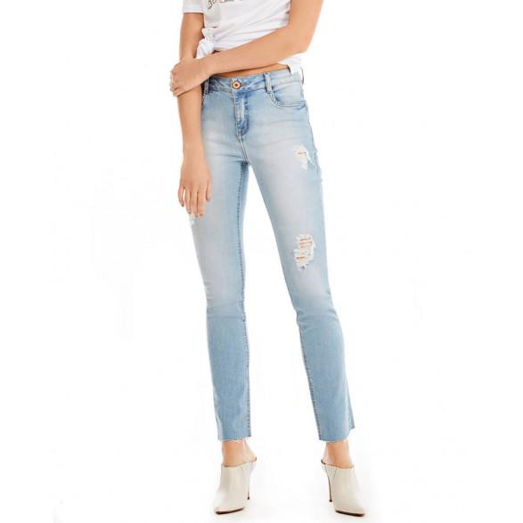 Calca Jeans Morena Rosa Skinny Andreia Cos Intermediario 10000204102000