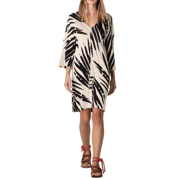 Vestido Osklen Decote V Sand Palm Feminino 58838