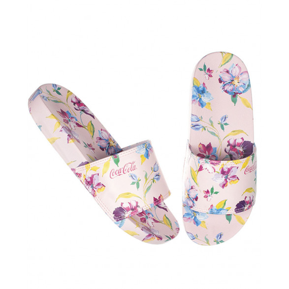 Chinelo Coca-Cola Slide 3D Paint Flower CC2709