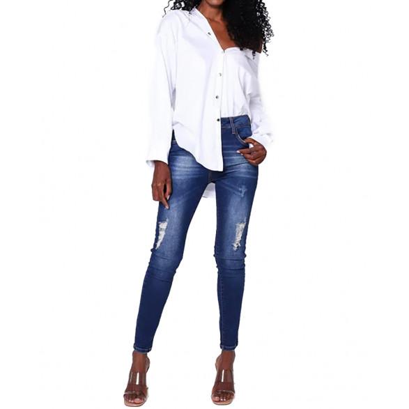 Calça Jeans John John Midi Skinny Curta Vichy Feminina