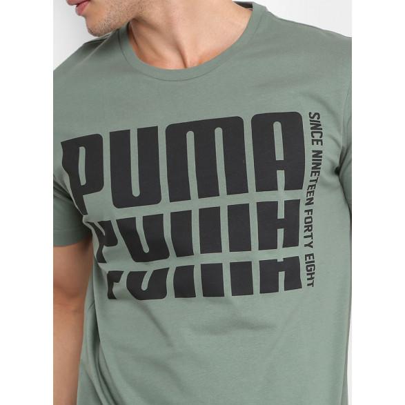 Camiseta Puma Rebel Bold Basic Masculina 85338501 - Preto